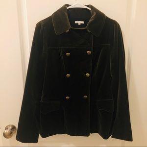 Vince velvet double breasted coat